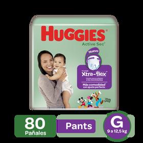 Pants Huggies Active Sec Xtra-Flex Etapa 3/G, 80uds