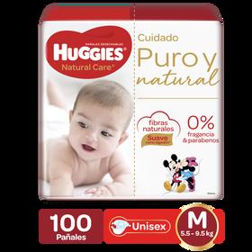 Pañales Huggies Natural Care Etapa 2/M, 100uds
