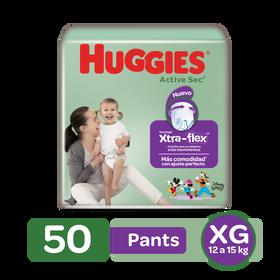 Pants Huggies Active Sec Xtra-Flex Etapa 4/XG, 50uds