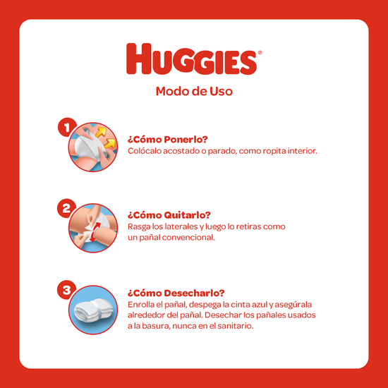 Pants Huggies Active Sec Etapa 3/G, 80uds