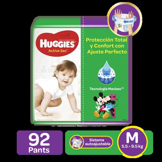 Pants Huggies Active Sec Etapa 2/M, 92uds