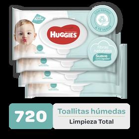 Combo Toallitas Húmedas Limpieza Total, 720uds