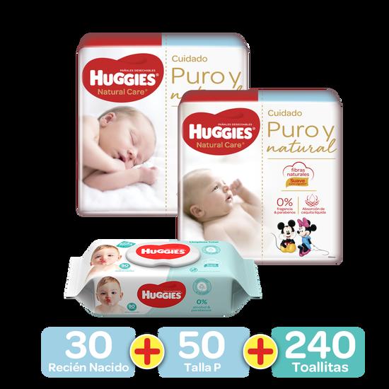 Kit Pimeros 100 Días: Pañales Etapa 0, 30uds+Pañales Etapa 1, 50uds+Toallitas Húmedas 240uds