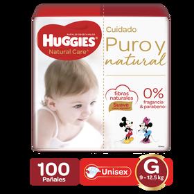 Pañales Huggies Natural Care Etapa 3/G, 100uds