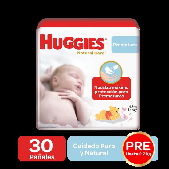 Pañales Huggies Natural Care Etapa 0/Prematuro, 30 Uds