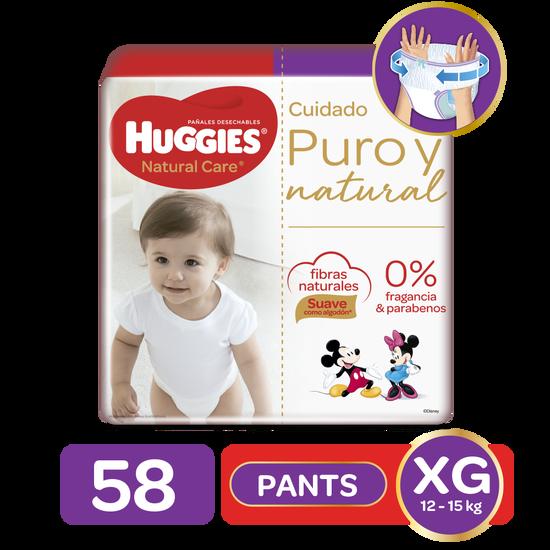 Pants Huggies Natural Care Etapa 4/XG, 58Uds