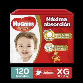 Pañales Huggies Snug & Dry Etapa 4/XG, 120Uds