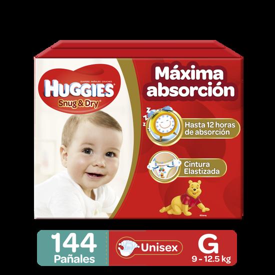 Pañales Huggies Snug & Dry Etapa 3/G, 144Uds