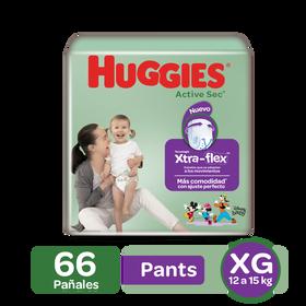 Pants Huggies Active Sec Xtra-Flex Etapa 4/XG, 66uds