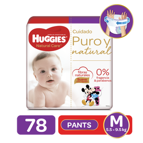 Pants Huggies Natural Care Etapa 2/M, 78Uds