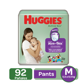 Pants Huggies Active Sec Etapa 2/M, 92uds