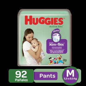 Pants Huggies Active Sec Xtra-Flex Etapa 2/M, 92uds