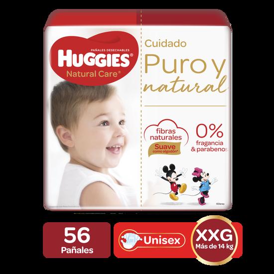 Pañales Huggies Natural Care Etapa 5/XXG, 56uds