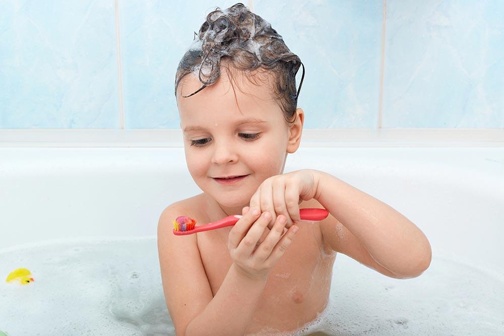 Higiene personal desde pequeño